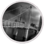 Greig Street Bridge Round Beach Towel