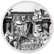 Griffith: Intolerance 1916 Round Beach Towel