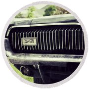 Grilled Cougar Round Beach Towel