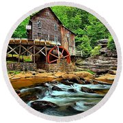 Grist Mill At Babcock Round Beach Towel