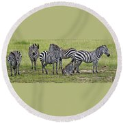 Group Of Barcodes Round Beach Towel