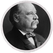 Grover Cleveland - President Of The United States Round Beach Towel by International  Images