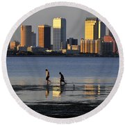 Growing Up Tampa Bay Round Beach Towel