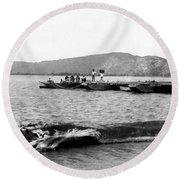 Guanica Harbor - San Juan - Puerto Rico - C 1899 Round Beach Towel