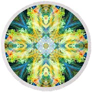 Guardian Angel Of The Home Round Beach Towel