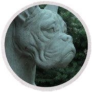 Guardian Boxer Round Beach Towel