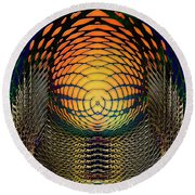 Guardians Of The Light Within Round Beach Towel