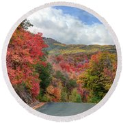 Guardsman Pass To Midway In The Fall - Utah Round Beach Towel