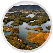Guatape Round Beach Towel