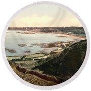 Guernsey - Rocquaine Bay - Channel Islands - England Round Beach Towel