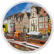 Guild Houses Round Beach Towel