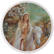 Guinevere Round Beach Towel