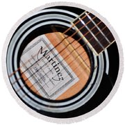 Guitar Abstract 1 Round Beach Towel