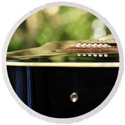 Guitar Abstract 3 Round Beach Towel