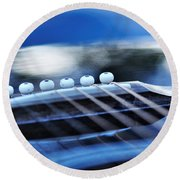 Guitar Abstract 4 Round Beach Towel