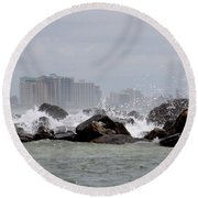 Gulf Of Mexico - More Waves Round Beach Towel