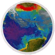 Gulf Of Mexico Dead Zone Round Beach Towel by Science Source