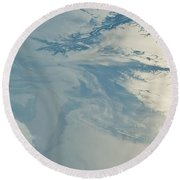 Gulf Of Mexico Oil Spill From Space Round Beach Towel