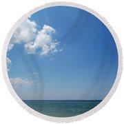 Gulf Sky Round Beach Towel