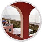 Gulf View Round Beach Towel