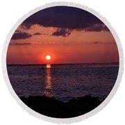 Gulfview Sunset Round Beach Towel
