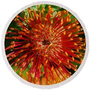 Gum Flower Round Beach Towel