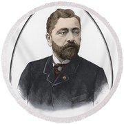 Gustave Eiffel, French Architect Round Beach Towel