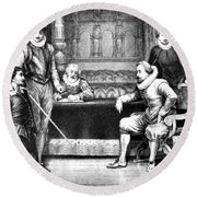 Guy Fawkes, English Soldier Round Beach Towel