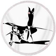 Horse 94 - Marucii Round Beach Towel