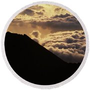 Haleakala First Light Round Beach Towel