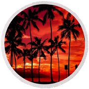 Haleiwa Round Beach Towel