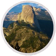 Half Dome From Washburn Point Round Beach Towel