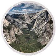 Half Dome Valley Round Beach Towel