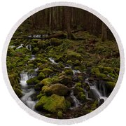 Hall Of The Mosses Round Beach Towel