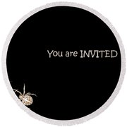 Halloween Greetings. Spider Party Series #02 Round Beach Towel