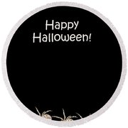 Halloween Greetings. Spider Party Series #03 Round Beach Towel