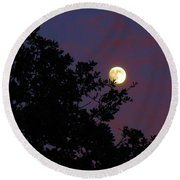 Halloween Moon 2009 Round Beach Towel
