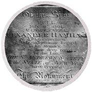 Hamilton: Pamphlet, 1797 Round Beach Towel