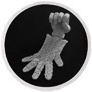 Hand And Glove Round Beach Towel