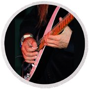 Sun In The Hands And Guitar Of Uli Jon Roth Round Beach Towel
