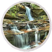 Hanging Rock Cascades Round Beach Towel