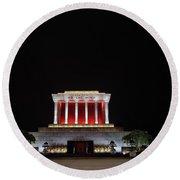 Hanoi Ho Chi Minh Mausoleum Round Beach Towel
