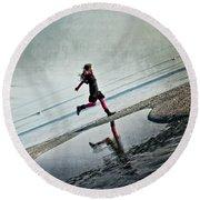 Hapiness Round Beach Towel by Joana Kruse