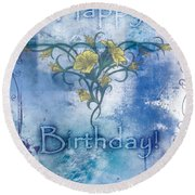 Happy Birthday - Card Design Round Beach Towel