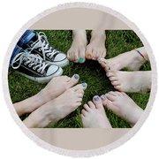 Happy Feet Round Beach Towel