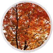 Happy Tree Round Beach Towel
