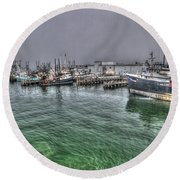 Harbor Dawn Round Beach Towel