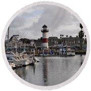 Harbor Lighthouse Round Beach Towel