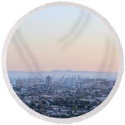 Harbor View II Round Beach Towel