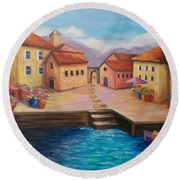 Harbourfront Round Beach Towel